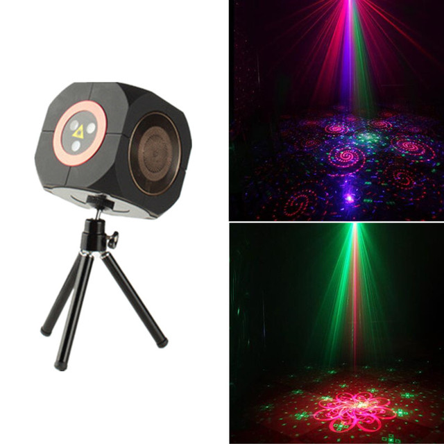 RGB Rechargeable Wireless Bluetooth Speaker Laser Projector Stage Lighting Effect for Party Outdoor DJ Disco Holiday Xmas Party