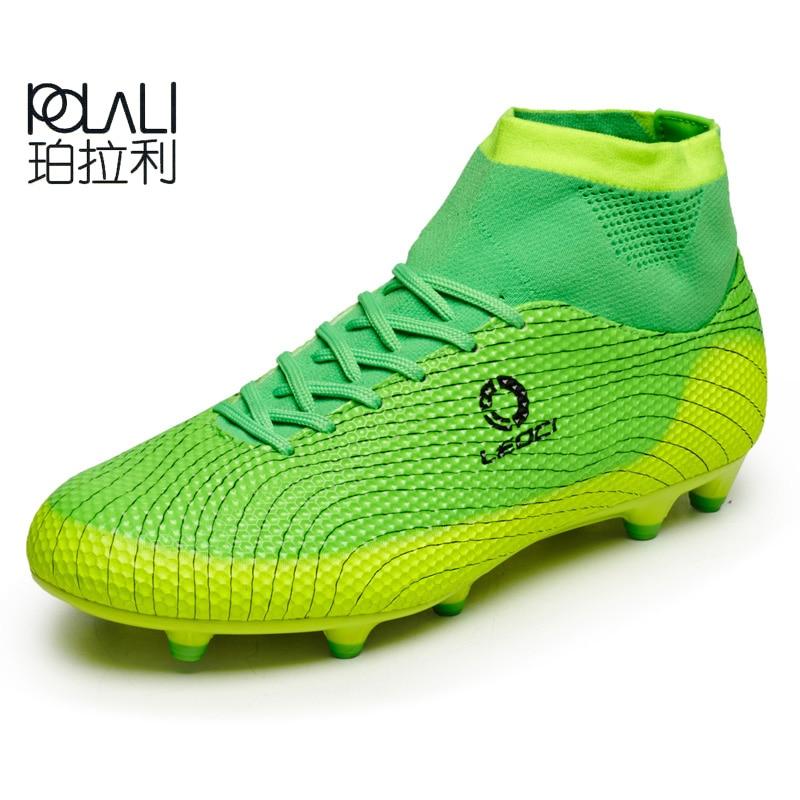 POLALI New Football Boots Men Soccer