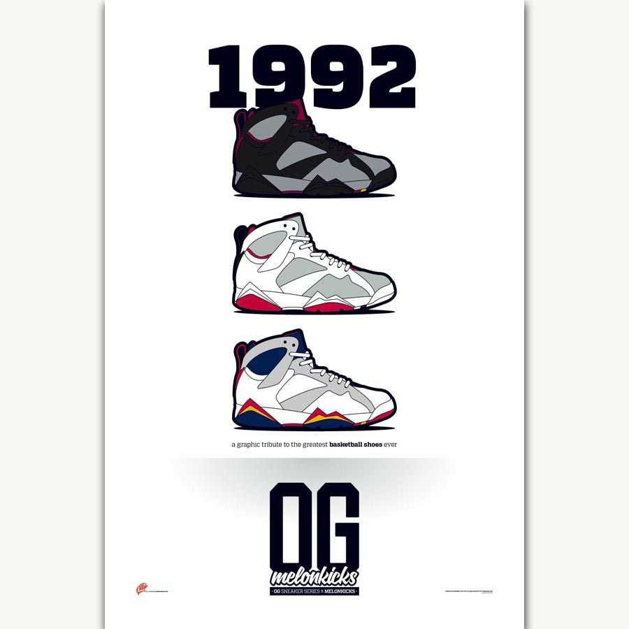 huge discount 2645b 813a9 FX996 Michael Jordan AJ Classic 1992 History Fashion Sneaker Shoes Poster  Art Silk Light Canvas Home