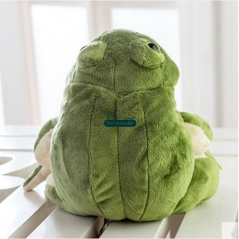 New Funny Simulation Animal Frog Plush Toy Stuffed Lovely Cartoon Green Frog Doll Pillow Baby Gift