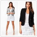 Starlist Women Black Business Blazer Grey Suit Coat Long Sleeve Tops Slim Jacket Coat OL Outwear