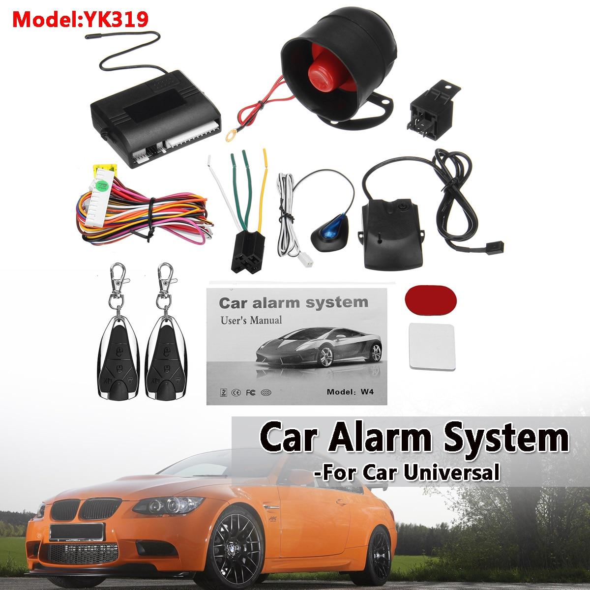 Universal 1-Way Car Alarm Security System Keyless Entry Siren +2 Remote Controller Vehicle Protection Anti-theft Burglar Alarm