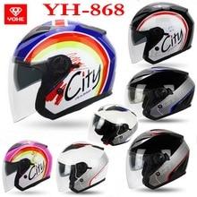 Вечный YOHE пол-лица Мотоциклетный шлем YH-868 ABS Мотоцикл шлем Двойной линзы электрический велосипед шлемы для four seasons