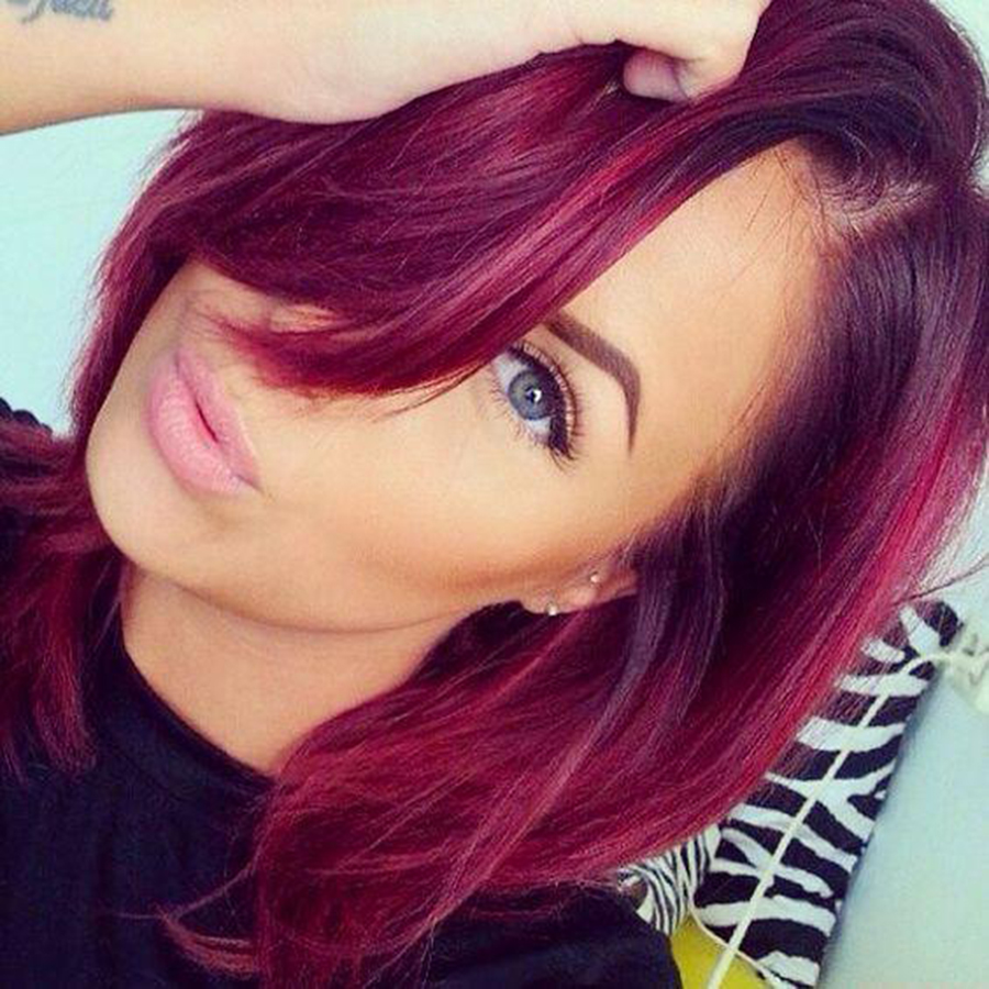 burgundy brazilian hair dark roots