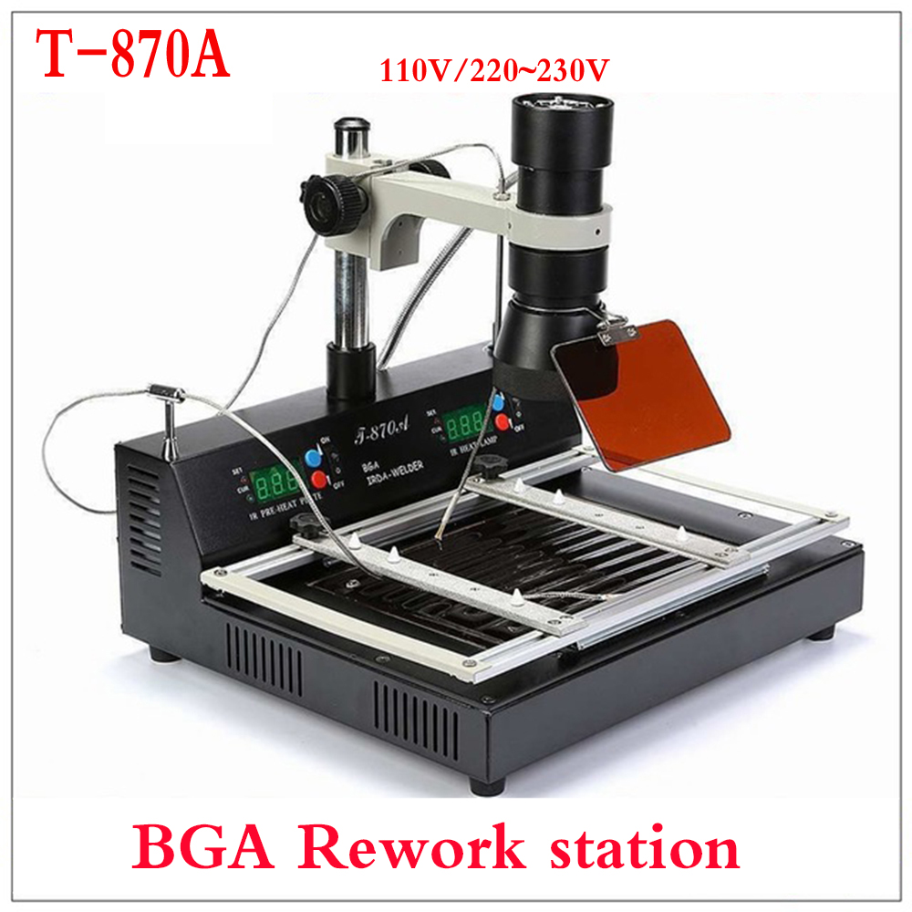 Free mailing T-870A BGA IRDA Welder T870A Infrared Soldering Reflow Oven T 870A IR Rework Station