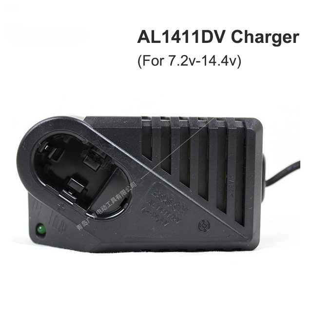AL1411DV Charger (For 7.2v-14.4v Nickel Cadmium Battery) Standard Charger Input voltage: 7.2-14.4 110 240v al1411dv replace ni cd battery charger for bosch charger gdr12v gsb12v gsb14 4v gsr 7 2v gsr9 6v gsr12v gsr14 4v gsr18v