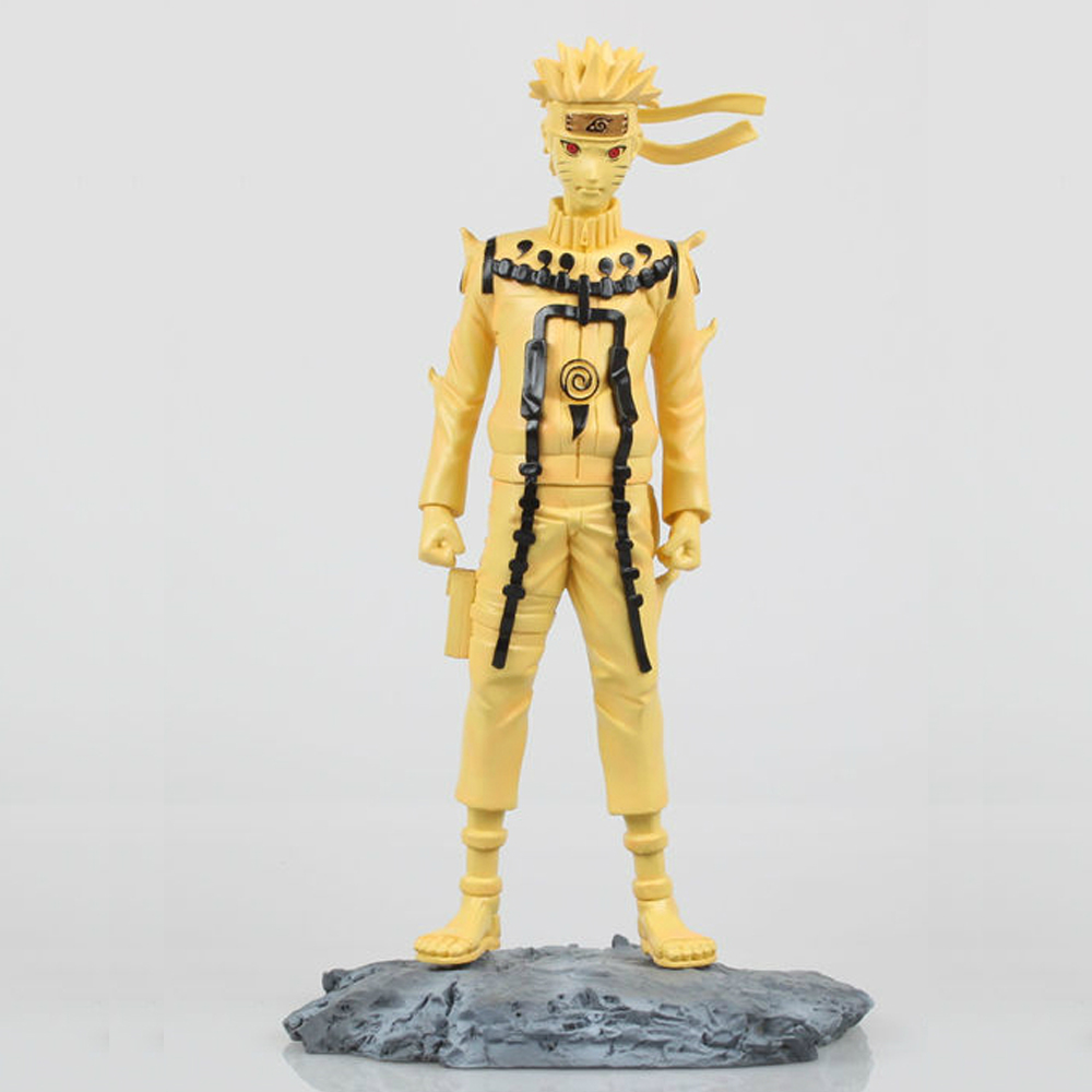 Hot Anime Naruto Uzumaki with base(Kyubi Form) 1/6 Scale 11'' Action Figure PVC Doll Deluxe Collection Toy Gift anime catoon uzumaki naruto yondaime naruto pvc action figure collectible model toy gift 25cm kt642
