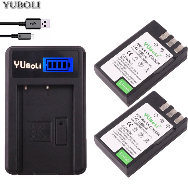 Jhtc Batterie En El9 Für Nikon En-el9a D40 D60 D40x D5000 D30 Batterie 1300 Mah En-el9 Akkus En-el9a Batterien