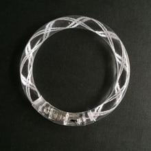 Acrílico LED parpadeante pulsera resplandor pulseras electrónicas juguetes concierto juguetes Hombres Mujeres Noche Del Banquete de boda regalo 30 unids/lote