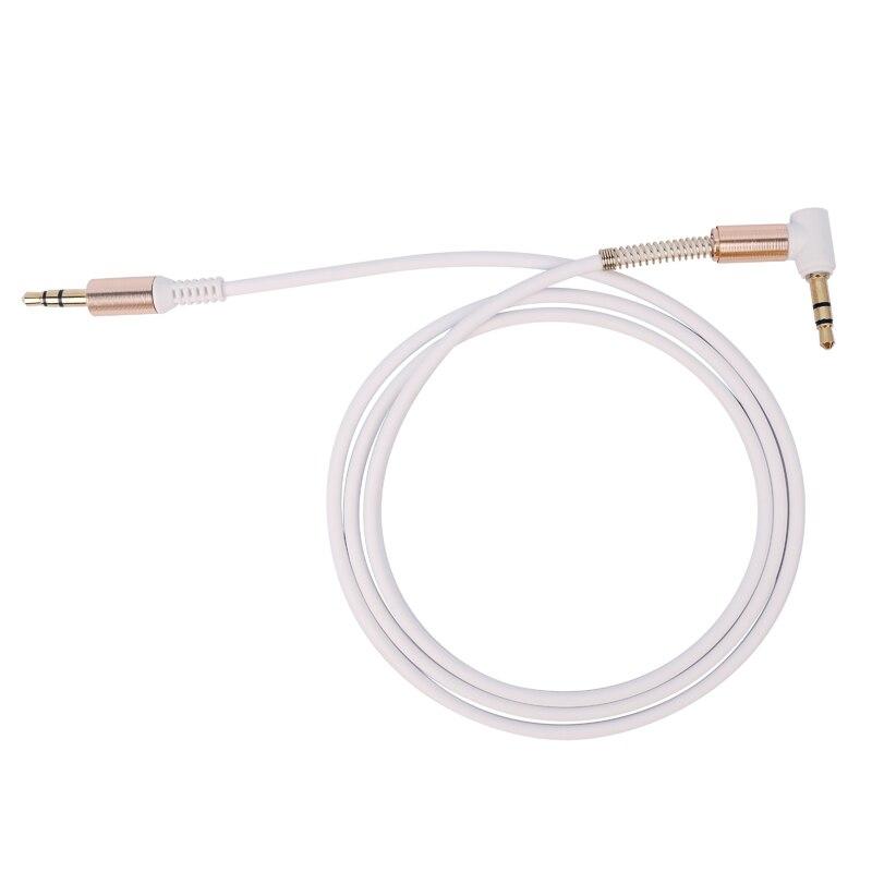 Aux кабель 3,5 мм аудио кабель 3,5 мм разъем динамик кабель папа-папа автомобильный шнур AUX для JBL наушников iphone samsung Aux шнур - Название цвета: A White
