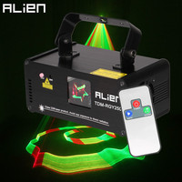 ALIEN Remote 3D 250mW RGY DMX512 Laser Scanner Projector Light DJ Disco Party Xmas Professional Stage Lighting Effect Show Light