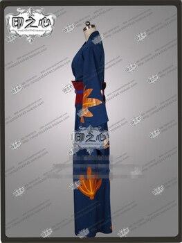 New Clothing Hot Anime Gintama Tsukuyo Uniform Kimono Cosplay Costume Customized Printing Kimono+Blet C
