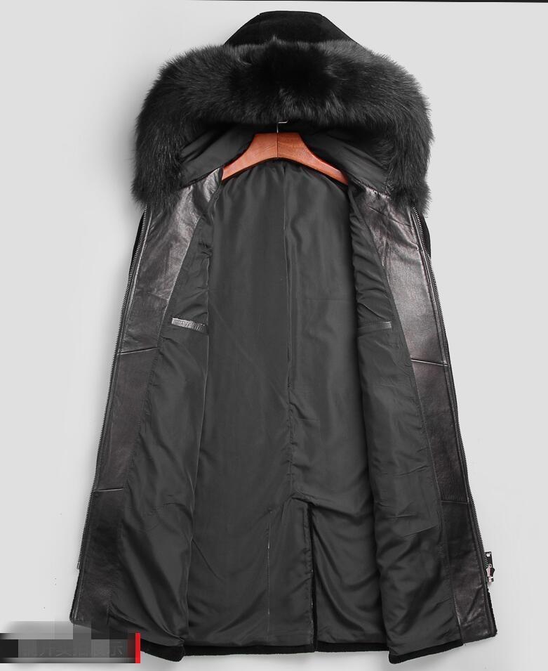 Col Veste À Manteaux Noir Qualité Manteau Capuchon Réel Fox Laine Fourrure Haute Parka Hiver Couleur Hommes De 7vIYby6fg
