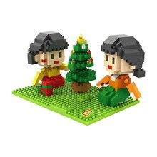 LOZ 9832 Japanese Anime Series Chibi Maruko $ Sister Diamond Bricks Minifigures Building Block Best Toys Compatible with Legoe