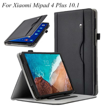 Premium PU Leather Cover MiPad 4 Plus cases Hand Strap for Xiaomi Mi Pad4 Pad 10.1 funda+Card Slots Pocket