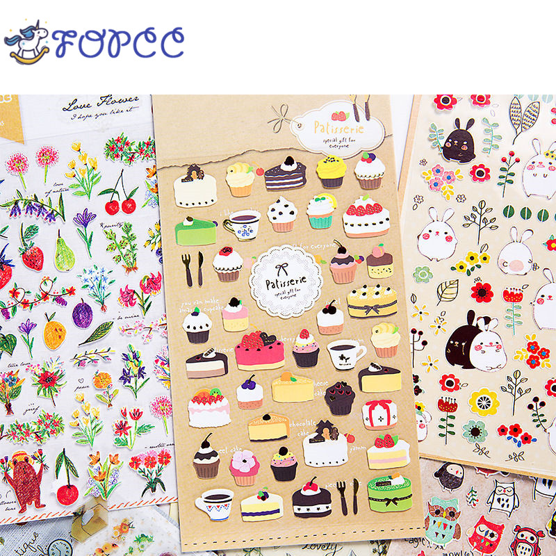Cute Lovely Paper Stickers Children Graffiti Sticker Toys Diary Scrapbook Book Wall Decor Cartoon boy girl Originality gift все цены