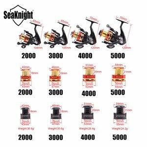 Image 2 - SeaKnight الغزل الصيد بكرة قائد 2000 3000 4000 5000 7.5 كجم الغزل بكرة الألومنيوم بكرة 10BB 5.2:1/ 4.7:1 بكرة إضافية