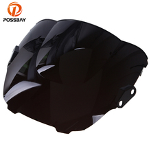 POSSBAY Motorcycle Windshield Cafe Racer for Honda CBR 600 F3 1995-1998 Scooter Windscreen Double Bubble Wind Deflector