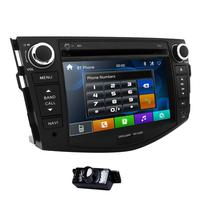 7 Monitor Car DVD GPS BT navigation for Toyota RAV 4 2006 2012 With TPMS OBD2 Steering wheel Free Rear Camera+ 8 G map card