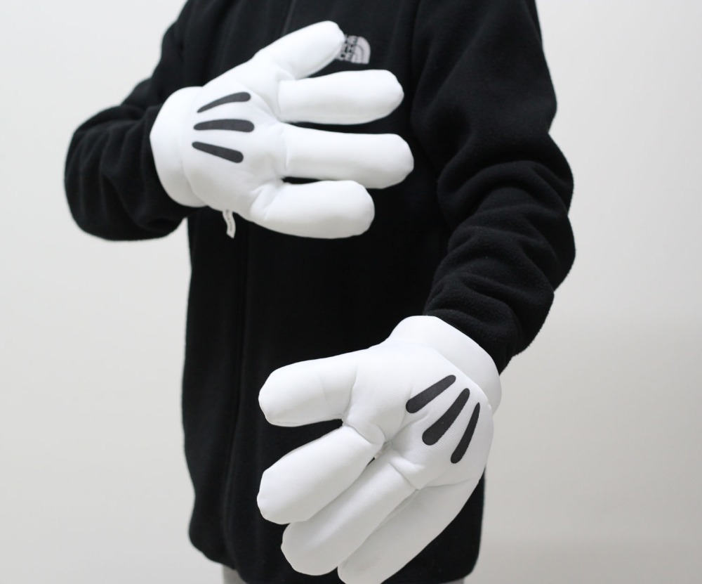 Mickey minnie plush gloves boxing gloves muffler image