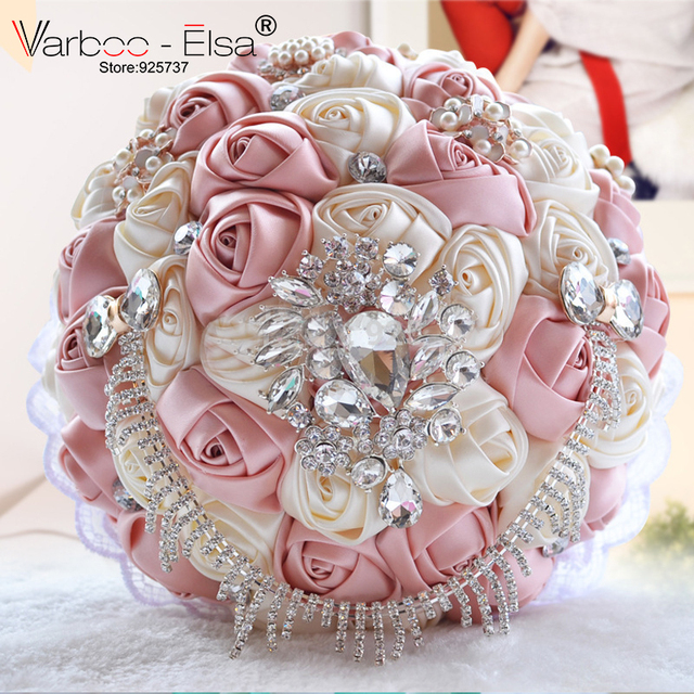 2018 Artificial Bouquet Luxury Wedding Bouquet High Qulaity Handmade Holding Flowers For Bride Wedding Accessory Bouquet Mariage