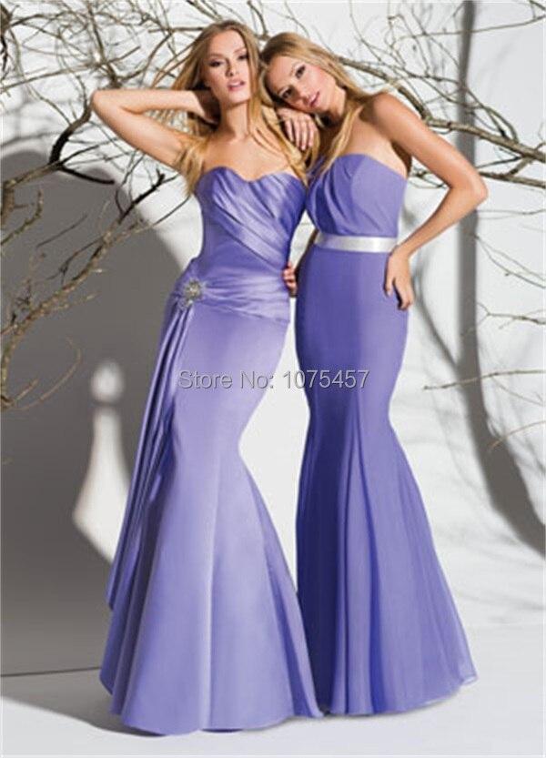El último diseño sirena Vestido De dama con los marcos 2015 Vestido ...