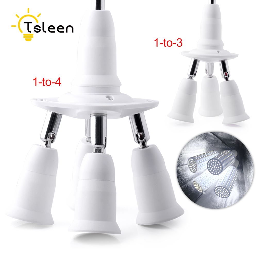 Lamp Bases Tsleen New 3/4 In 1 E27 Socket Splitter Lamp Base Adjustable Base Light Lamp Bulb Adapter Holder Socket Splitter 1 To 3/4 To Suit The PeopleS Convenience