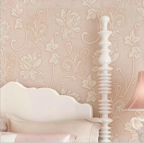 Vintage Classic Pink White Beige Green French Modern Damask Feature Wallpaper Wall Paper Roll For LivingRoom Bedroom TV Backdrop In Wallpapers From Home