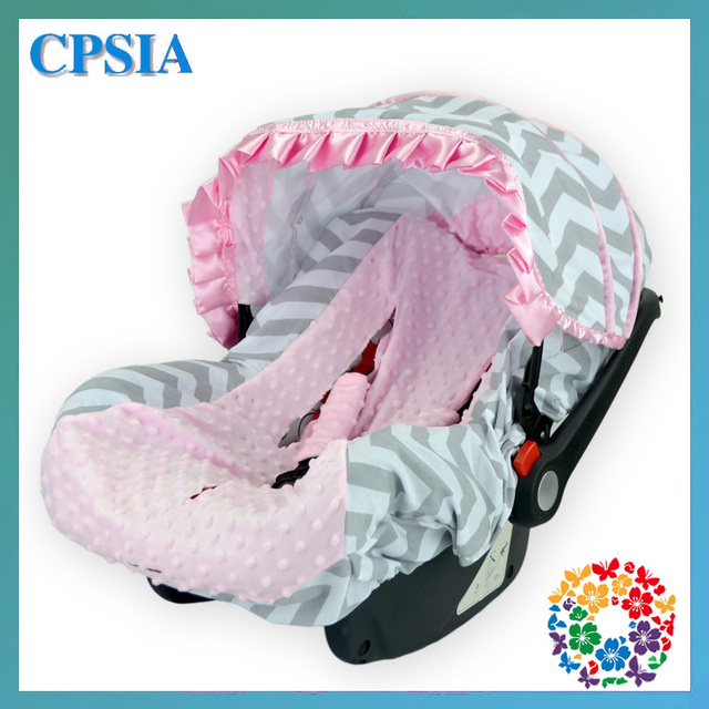 2015 Fancy Car Seat Cover Grey Chevron Baby Car Seat Cover Fit Most