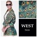 Marca de lujo bufanda de cachemira mujeres de doble capa sólida de pavo real del cabo Pashmina de gran tamaño nacional abrigo caliente manta bufanda y los mantones