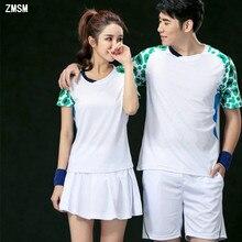 ZMSM короткие парные мужские и wo мужские теннисные рубашки, шорты и юбки для бадминтона, футболки для настольного тенниса, быстросохнущие спортивные костюмы NM50601