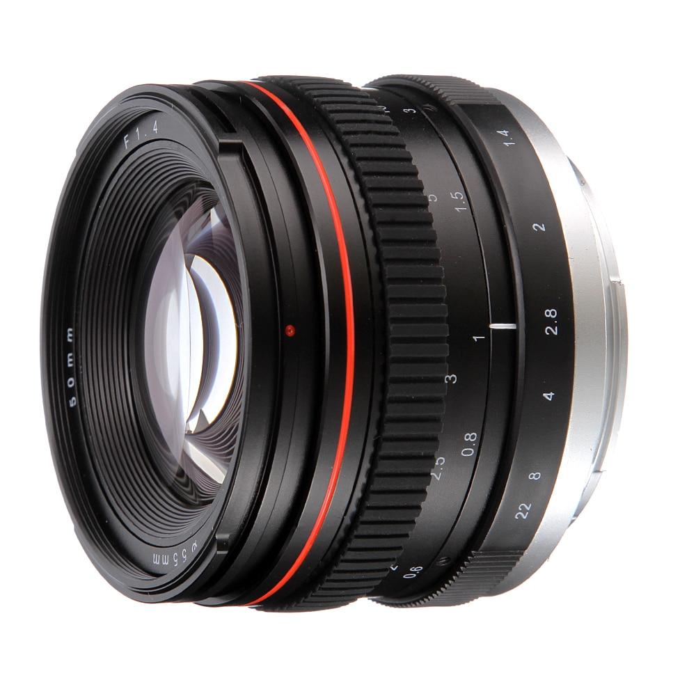 Objectif MF Standard à grande ouverture 50mm F1.4 plein cadre pour Canon EOS 650D 700D 750D 7D 1300D 60D T4 T5 T3i T5i caméra