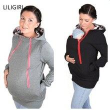 LILIGIRL/толстовка с капюшоном для родителей; куртка; коллекция года; пуловеры для мам и беременных женщин; пуловеры с кенгуру; Верхняя одежда для беременных