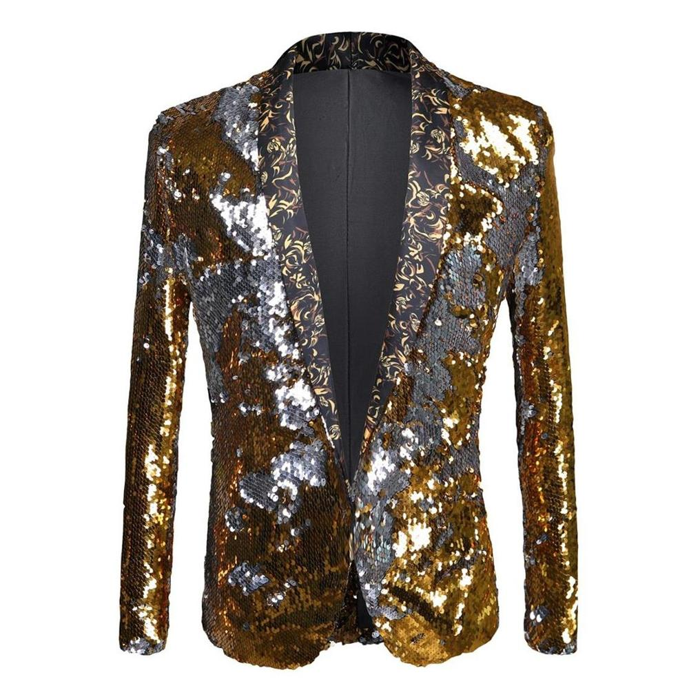 GL&DR men's sequined blazer slim fit mens wear banquet wedding performance festival celebration mens shiny suits