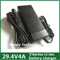 24V charger 29.4V 4A Li-ion battery charger for 25.2V 25.9V 7 series lithium li-ion battery pack E bike charger good quanlity