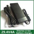 29.4V4A 29.4 V 4A Li-ion cargador de batería para 25.2 V 25.9 V serie 7 de litio li-ion battery pack para e-cargador de bicicleta buen quanlity