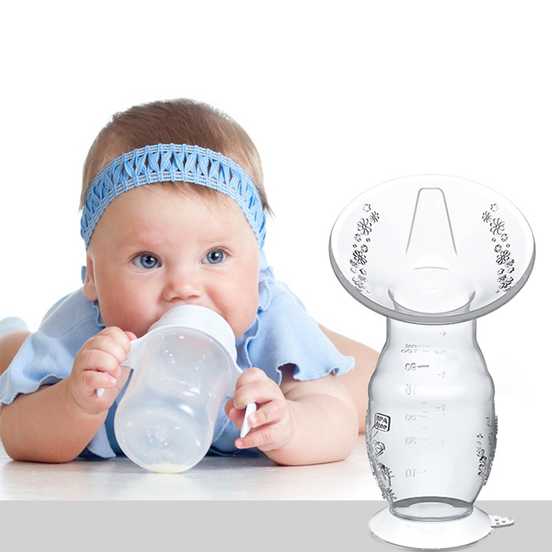 Silicone Breastfeeding Manual Breast Milk Pump Breast Collector Baby Kid Feeding