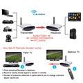 Digital sem fio av rca de áudio e vídeo transmissor receptor sender + ir repetidor estendido para casa dvd tv a cabo via satélite reciver