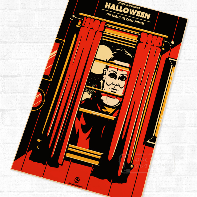 Horror Movie Series John Carpenter's Halloween Vintage Poster ...