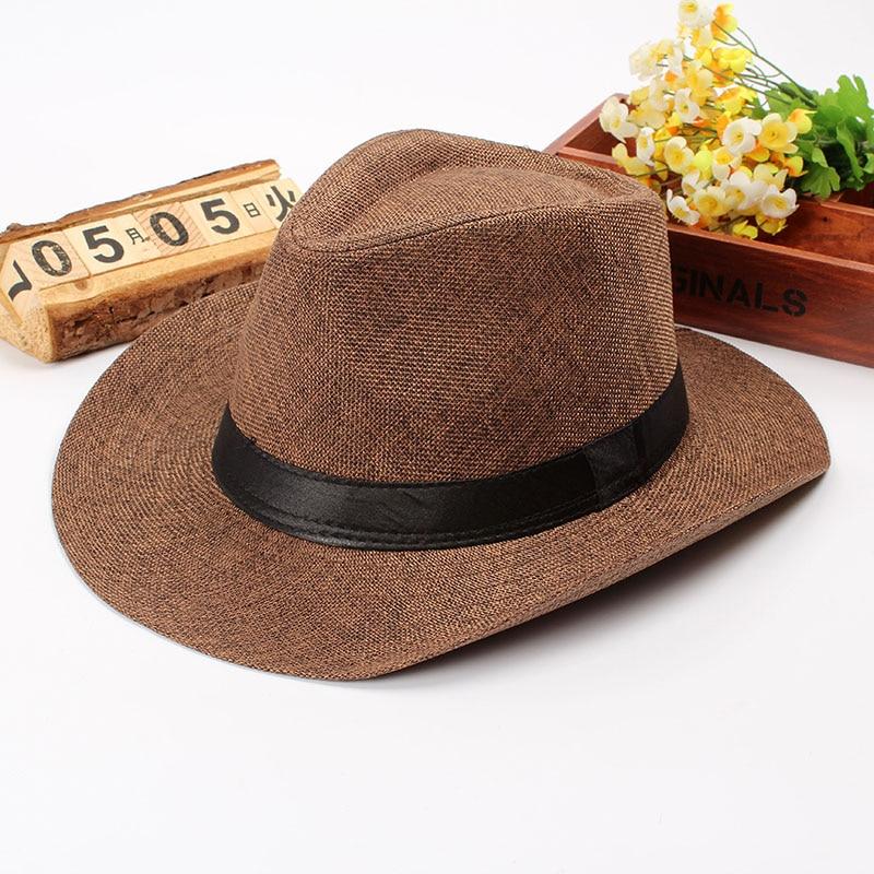 Summer Men Straw Cowboy Hat