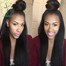 New! light yaki full lace wig & lace front wig natural looking bleached knots Unprocessed virgin Brazilian hair with baby hair