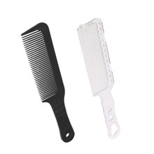 2Pcs Flat Top Fine Tooth Hair Comb for Long Curly Hair Detangling, Anti-Static Comb Styling Tools, Black & White(China)