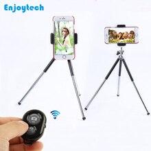 Mini Tripod för Gopro SJcam Xiaoyi-kameror Stå med Bluetooth-fjärrkontroll för 4-6 tums iPhone Samsung Xiaomi-telefoner Fotografering