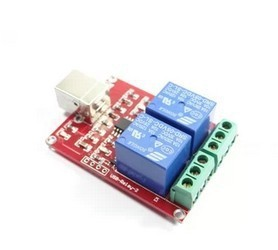 10pcs Free drive / usb control switch / 2- channel 5V Relay Module / Computer control switch