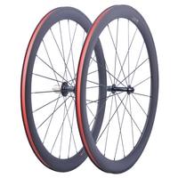 Заводская Распродажа супер легкий карбоновый велосипед Колесная 700C мм 50 мм Clincher трубчатый карбоновый шоссейный комплект колес карбоновые