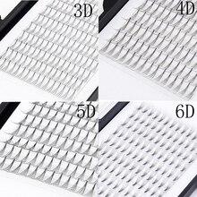 Готовые объемные вееры для ресниц 3D 4D 5D 6D, профессиональные объемные вееры для наращивания ресниц, объемные ресницы для России
