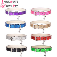 1 Piece Bling Big Dog Collar S/M/L/XL/XXL Collars for Large Small Dogs With accessories Personalized Strap Leashes Pet supplies