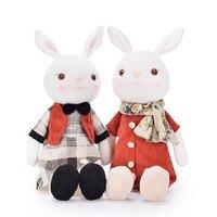 Metoo Куклы Свадебные плюшевые тирамису кролик, игрушки Королевский Фиолетовый платье плюшевые куклы для детей друг Обувь для девочек 10.5'
