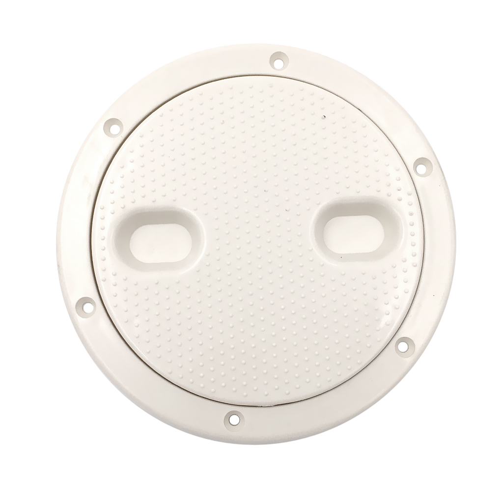 ABS Plastic Deck Plate Marine Boat Yacht RV 6 Inch Access Hatch Cover Screw Out Deck Plate Marine Round Inspection Hatch White