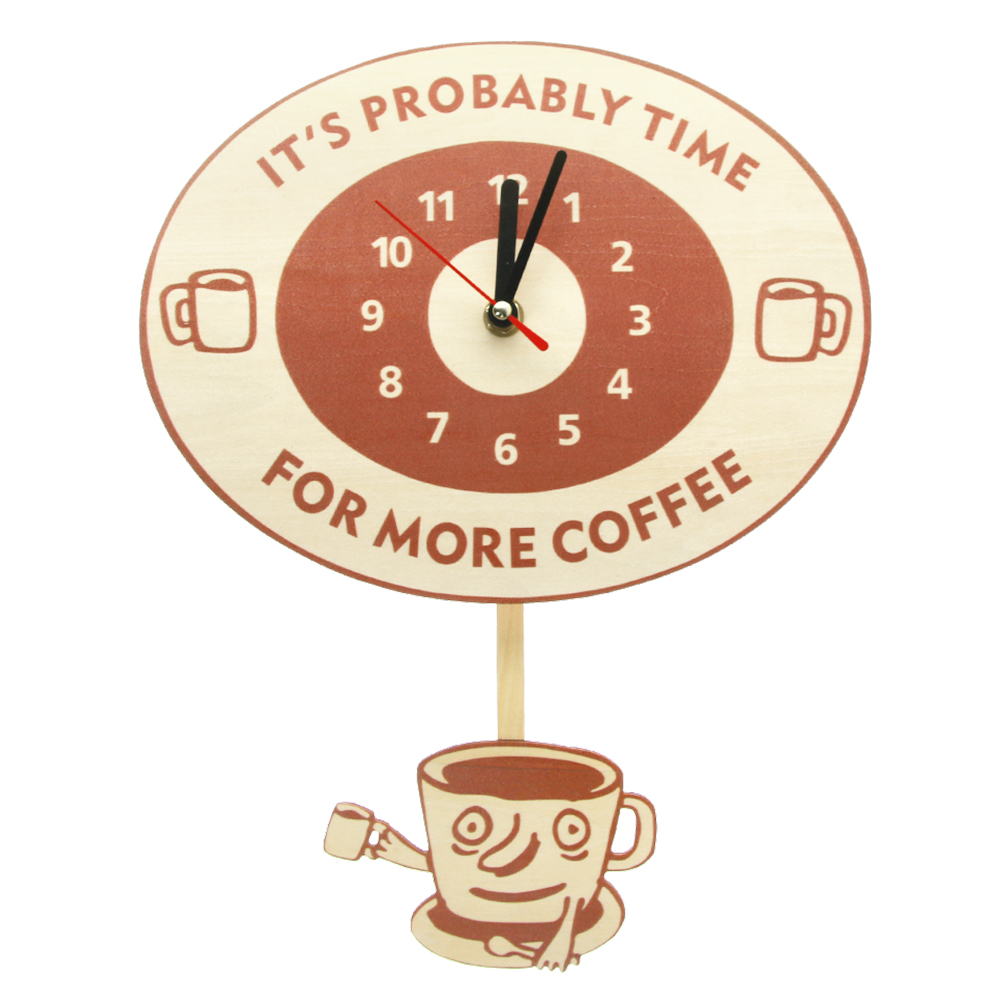 Time For More Coffee Inspirational Quote Coffee Wall Clock With Swinging Mug Cafe Decorative Clock Wall Watch Coffee Lovers Gift